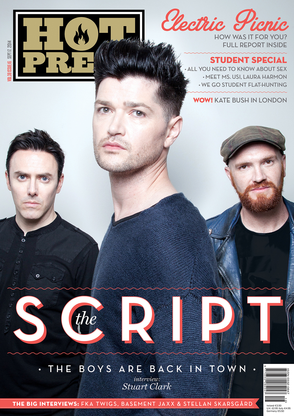 The Script  , photographed exclusively for the cover of   Hot Press   Magazine.