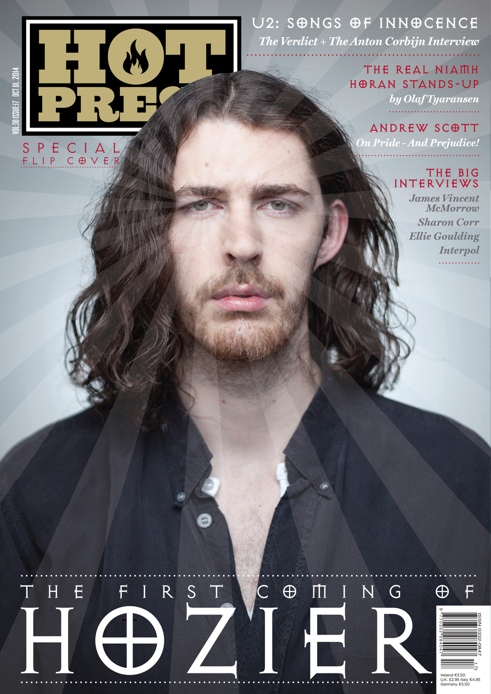 Hozier  , photographed exclusively for the cover of   Hot Press   Magazine.