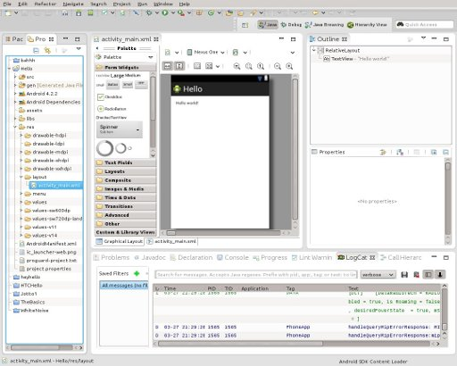 Eclipse with Android SDK and ADT installed