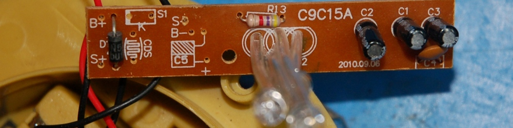 Top side of PCB