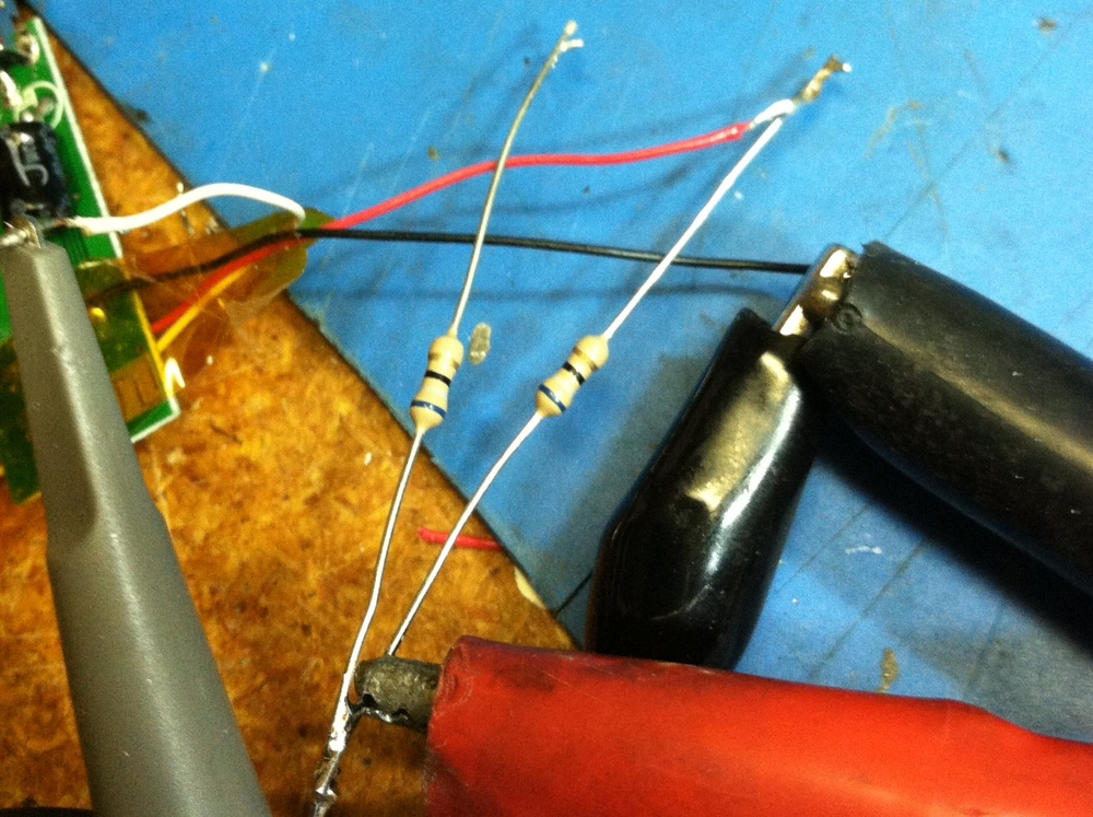 Experimenting with mixing resistors