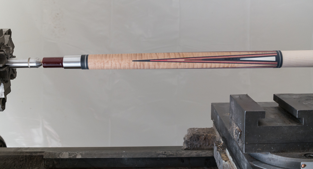 A beautiful piece of curly maple in this cue.