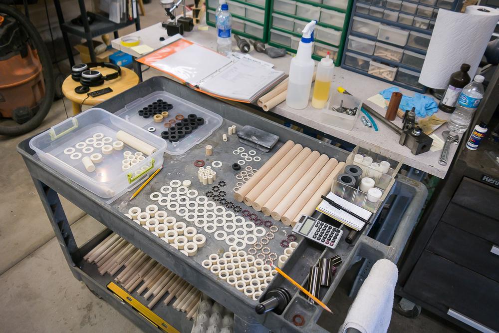 Making parts.