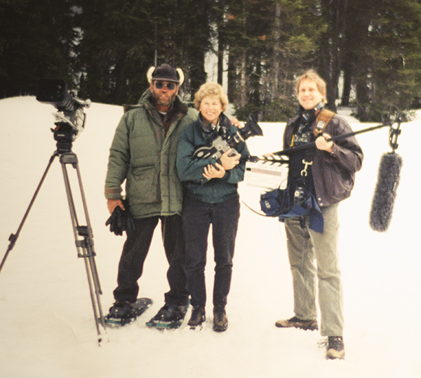 In Yellowstone for the BBC with Bob Landis and Ginger Kathrens. It's always a pleasure to work with pros who are genuinely nice people.