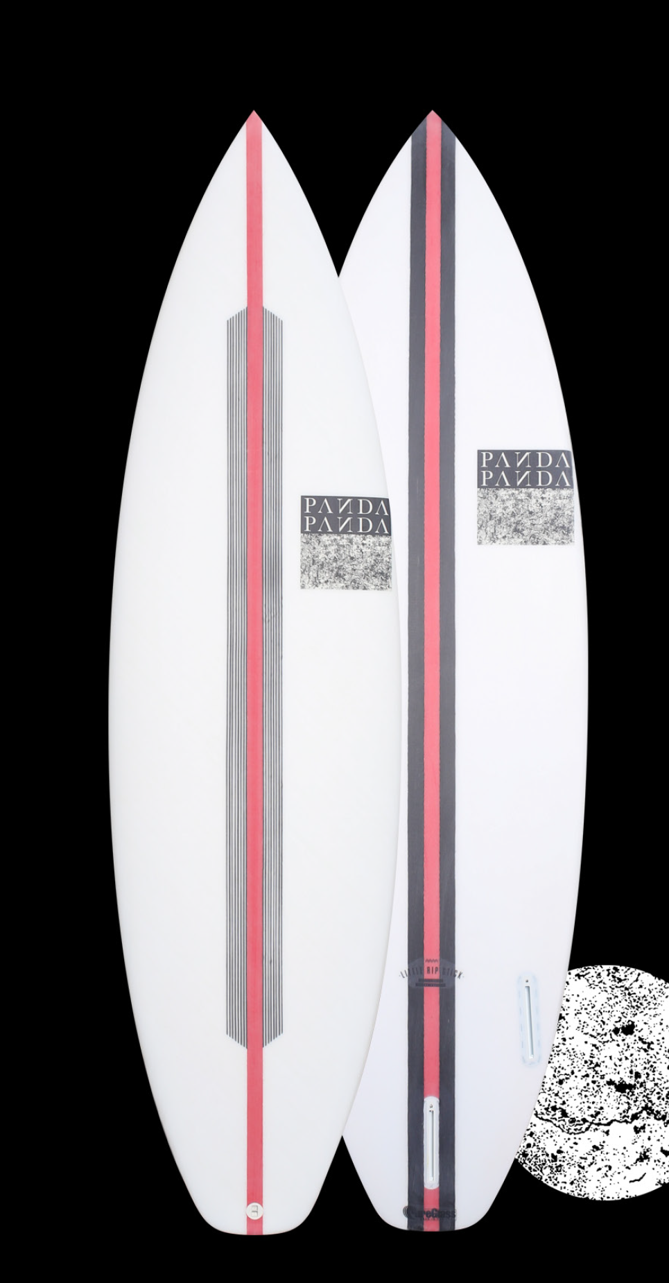 FVK The FVK has an EPS core with a high density PU stringer lami- nated in X and S cloth for superior flex and compression strength using carbon panels to control and change the flex pattern for a superior board with flex and drive where you want it and that extra bit of spark. All Panda models are available in FVK Tech.