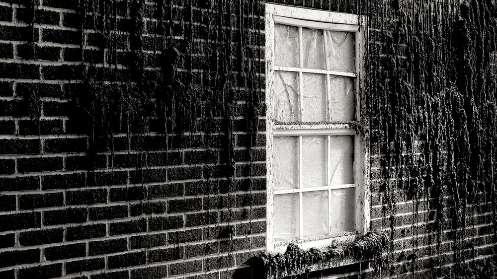 Wax window, bricks melting- photo by Angie Dixon- Illuminate Productions