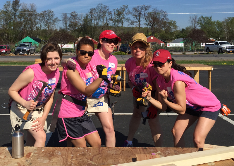 The Givegab ladies at Women's build 2015