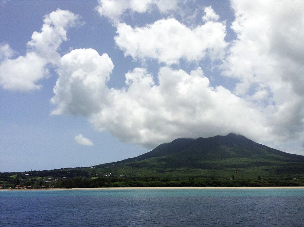 Nevis Peak covered in cloud