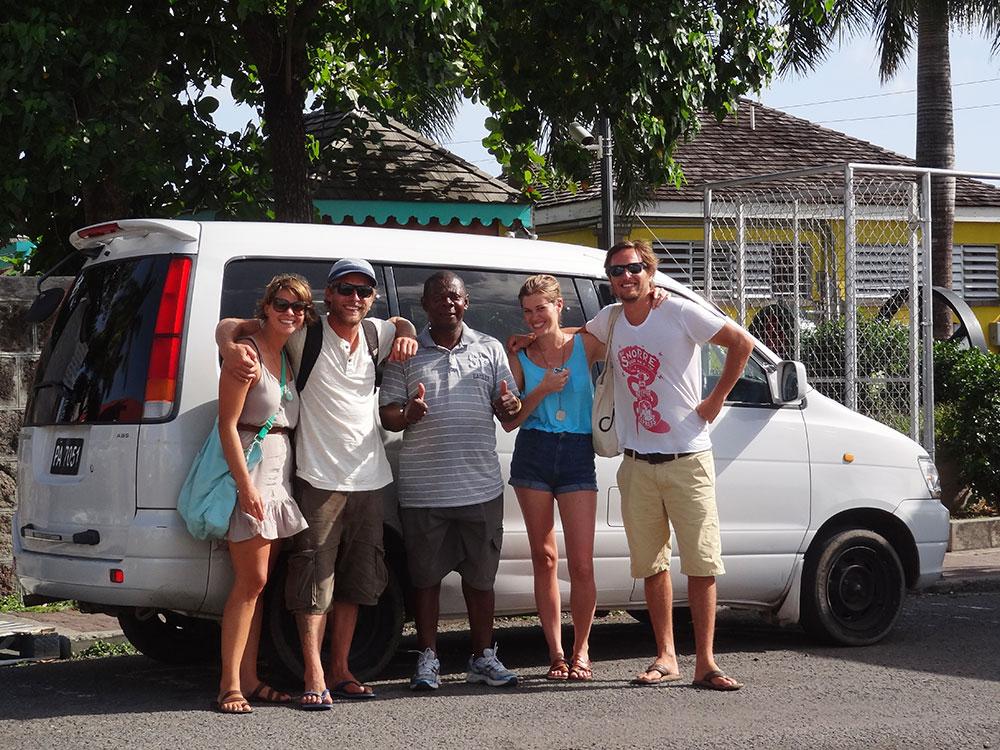 Happy tour group