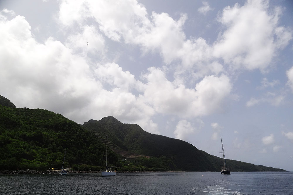 The anchorage in Basse-Terre