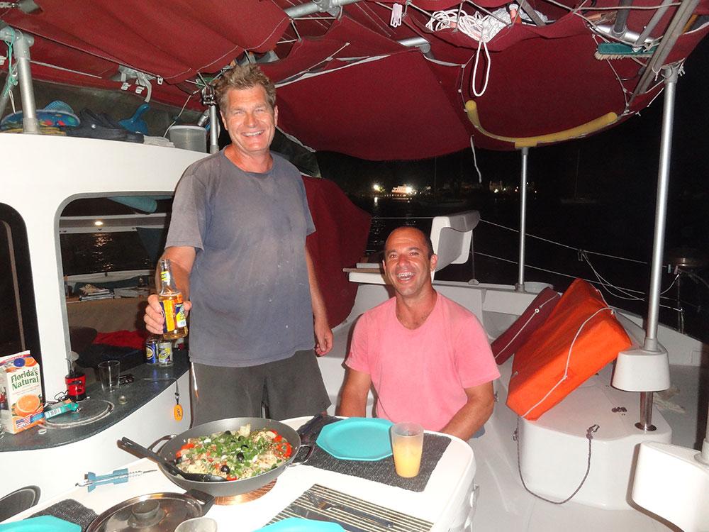 Peter and Rodrigo on Onda Boa