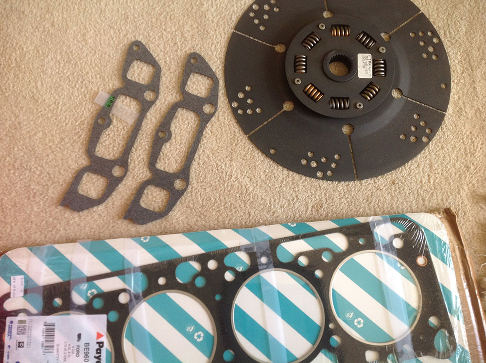 Our new engine parts - Thanks Ken!
