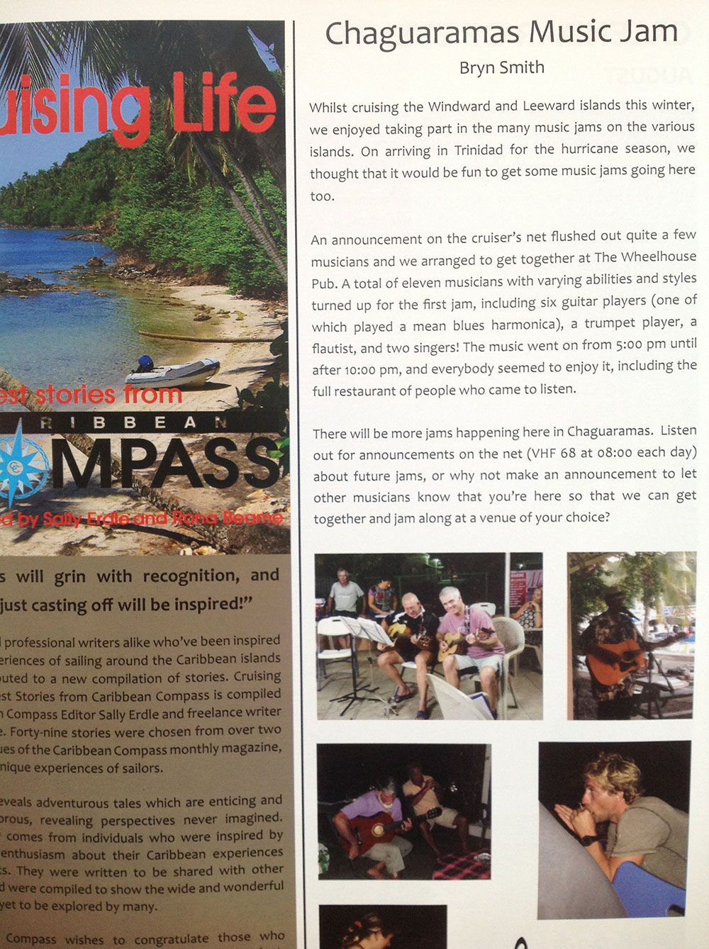 Will making it into the local magazine for his harmonica skills!