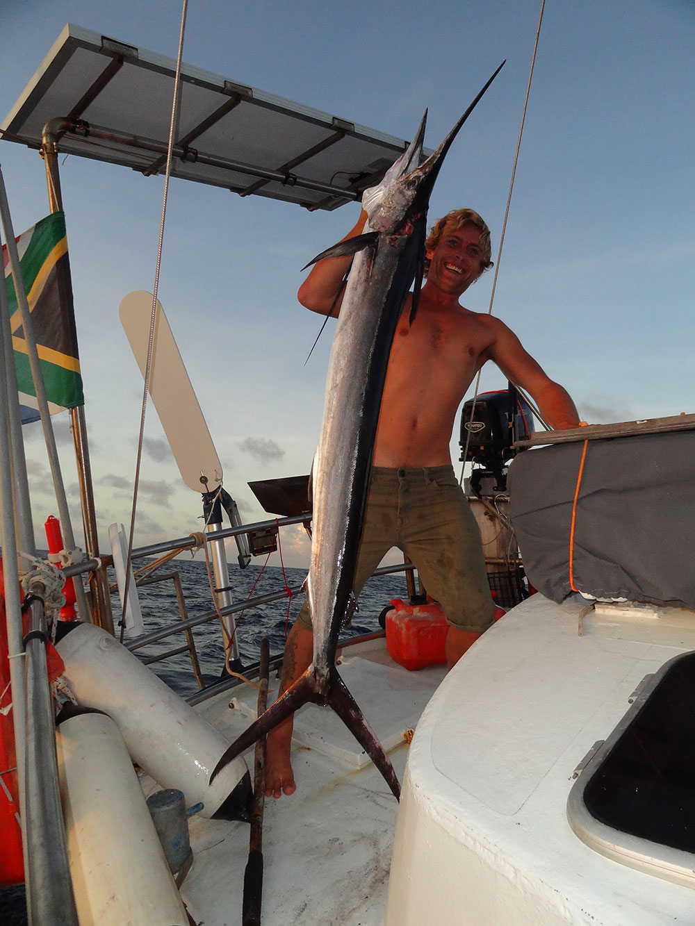 And Will caught a Marlin! (A white one we were told?) Our biggest fish on our last sail!