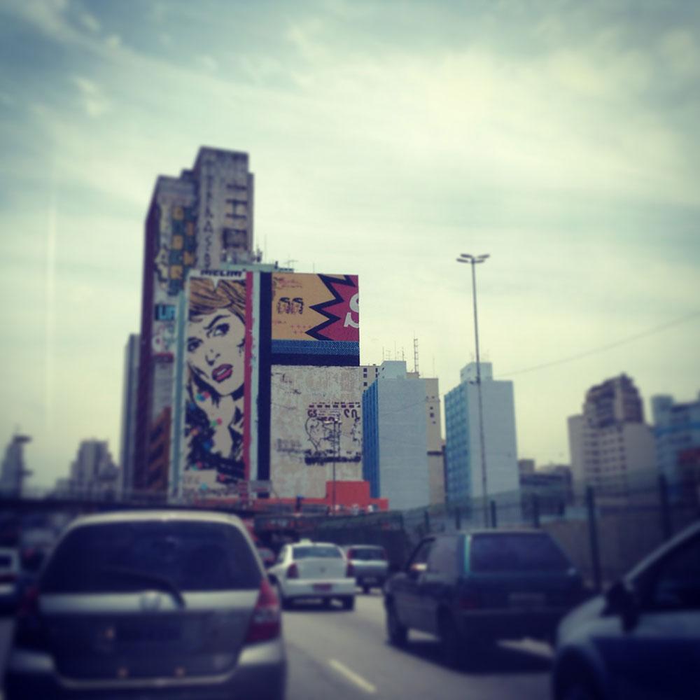 Overlay in Sao Paulo, Brazil