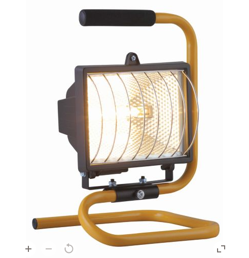 Halogen work lights are readily available, cheap and can fill a decent space with tungsten light