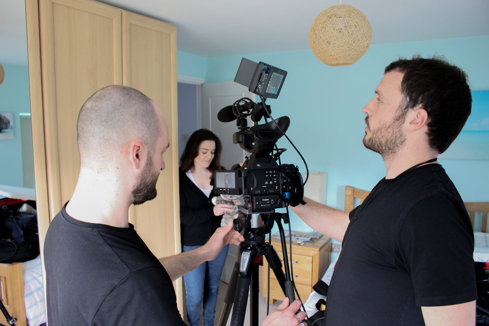 Working on a charity video with regular collaborator Russ from 325Productions UK