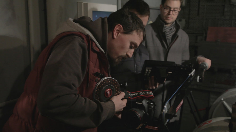 DOP Nick Barker setting up the 5D