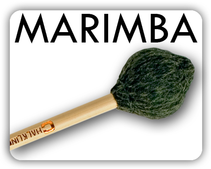 Wound in wool yarn and made in four grades from hard treble through rich vibrant medium to full deep mellow soft. MS33, extra large heavy soft beaters, produce organ-like tones from the bass marimba.