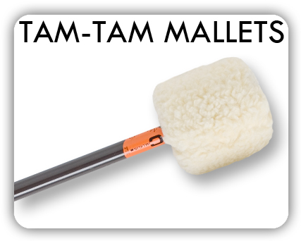Tam-Tam mallets with metal handles for tam-tams of all sizes.