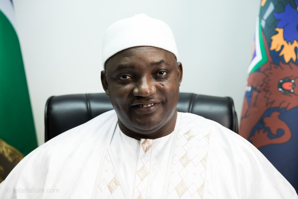 I was lucky enough to film the new president of The Gambia, Adama Barrow, and take his photo. The room we were in was not that interesting but it was fun to meet a president in person for the first time.