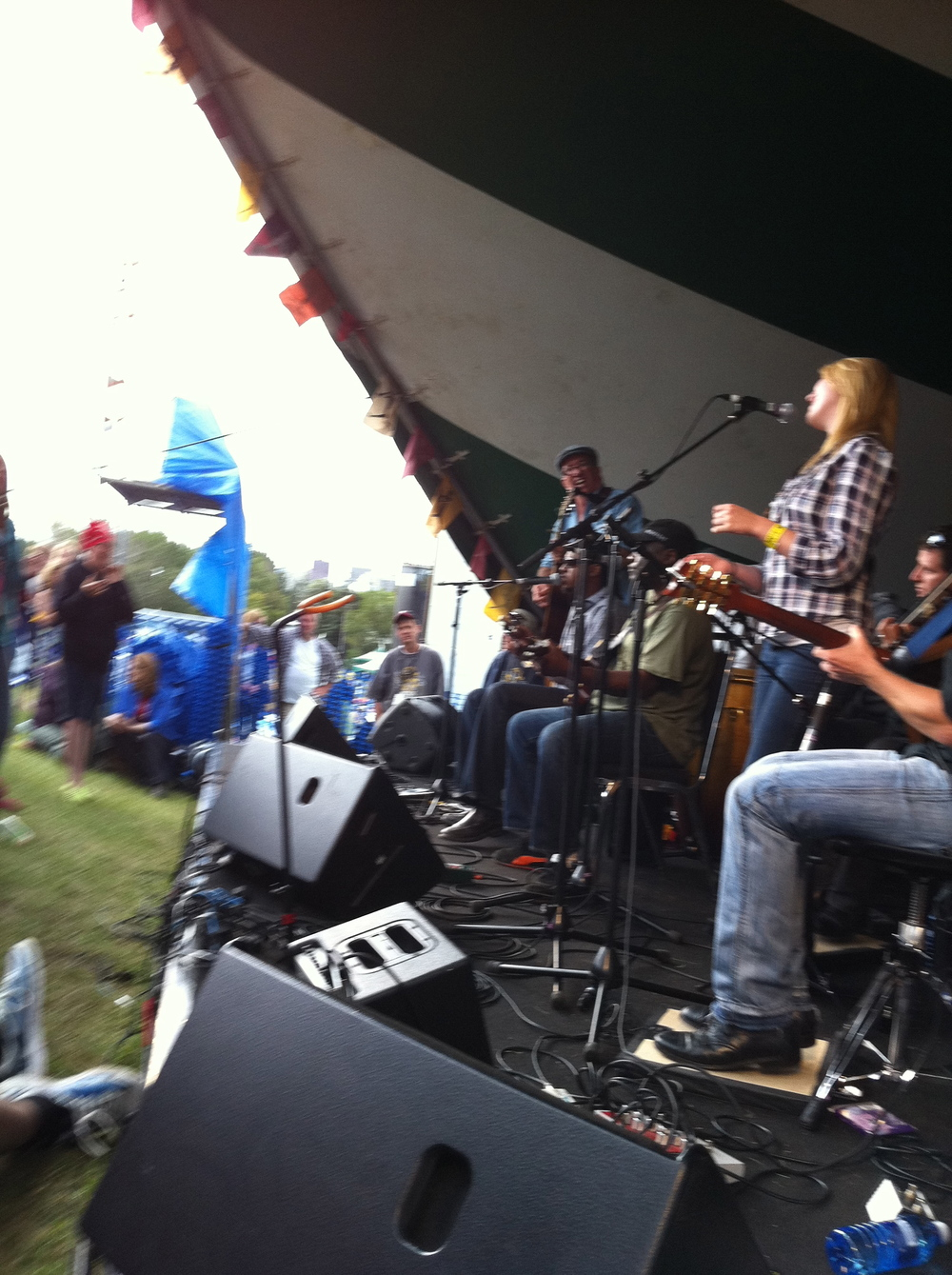 Pulled on stage at Edmontons Folk Festival 2012 by The Mighty Popo