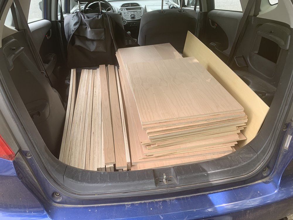 All the wood that's fit to print. Enroute to my studio, with a stop at a Texas BBQ joint first (of course).