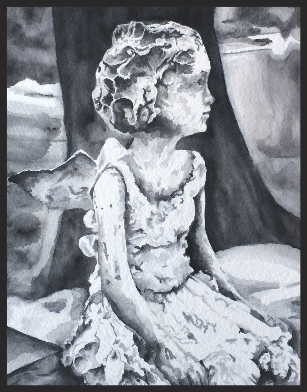 rachel winner angel wants to play watercolor graphite
