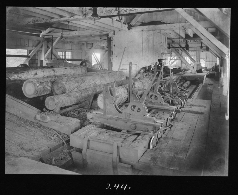 S.P. 244 interior of hardwood sawmill