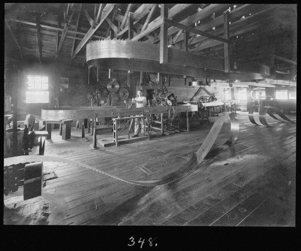 S.P. 348 Sawmill saw filer 1907