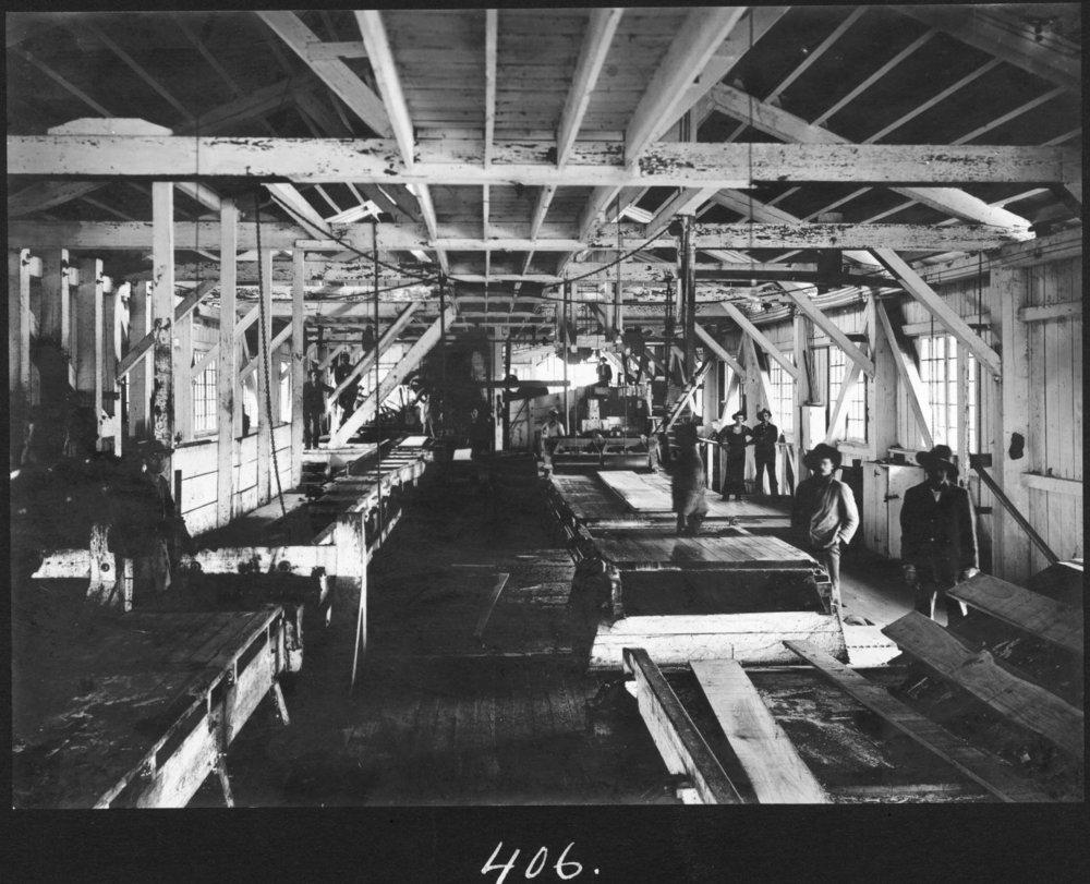 S. P. 406 Hardwood Sawmill Interior