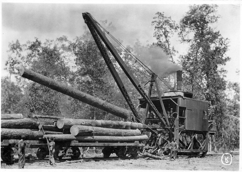 S.P. 301 backside steam log loader
