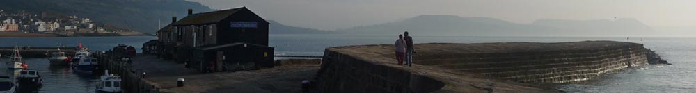 The Cobb at Lyme Regis, situated close to Bonhays Meditation and Retreats Centre