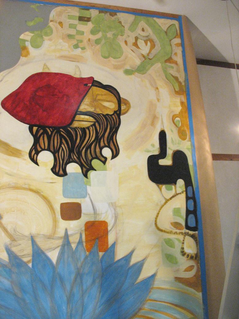 mural in progress, SF