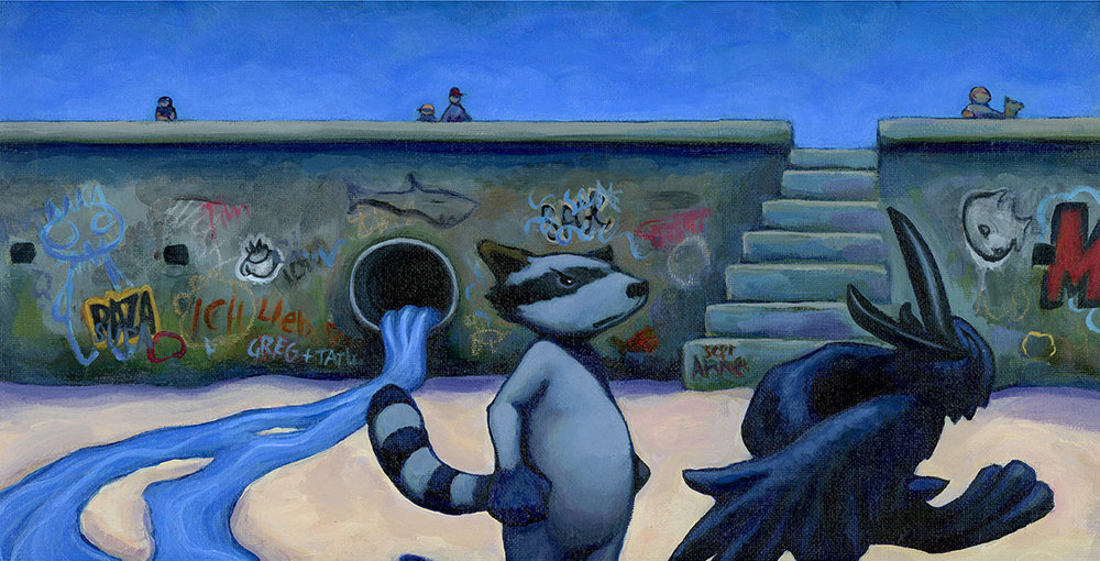 racoon-and-crow-at-beach.jpg