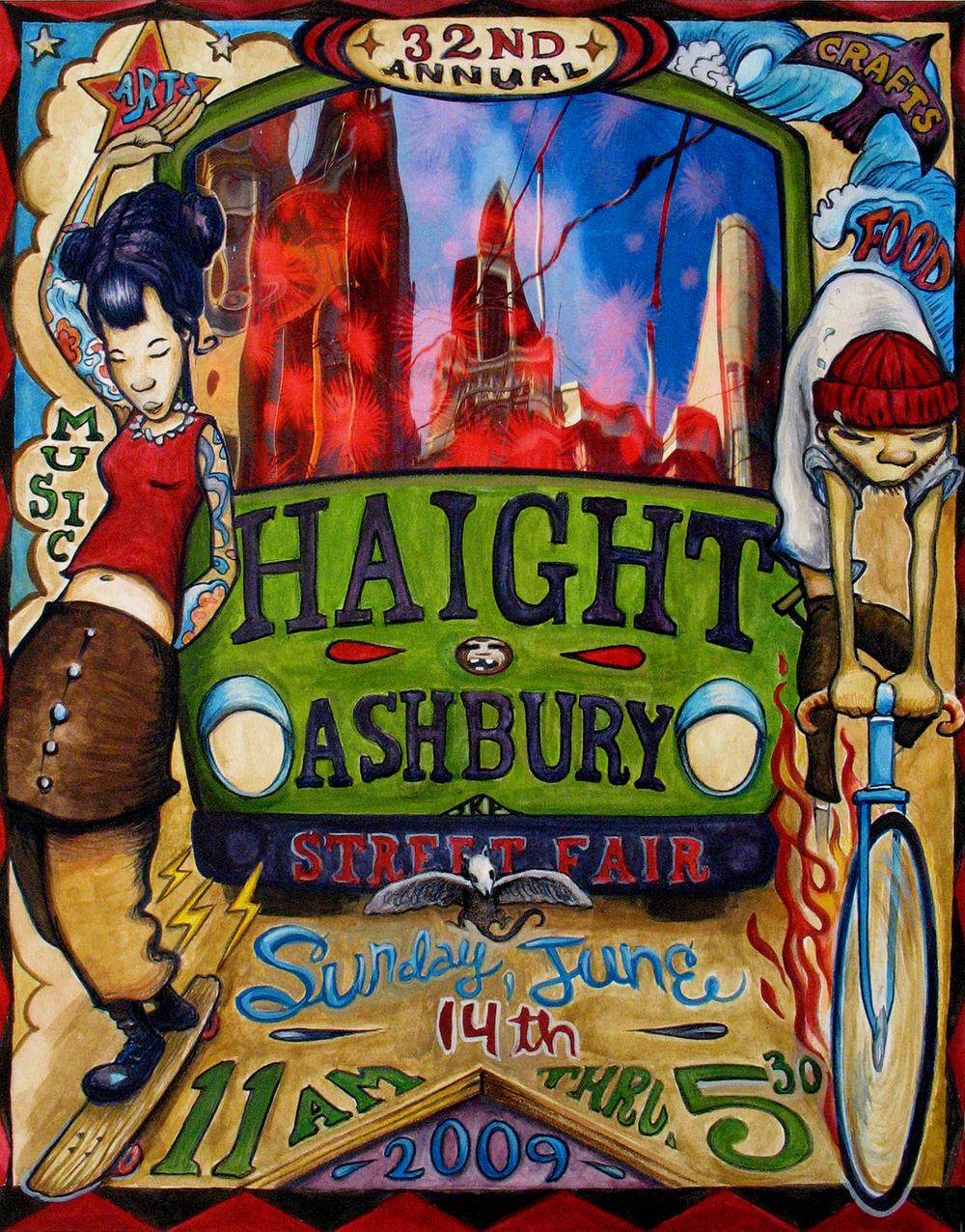 Haight Ashbury Street Fair - poster entry