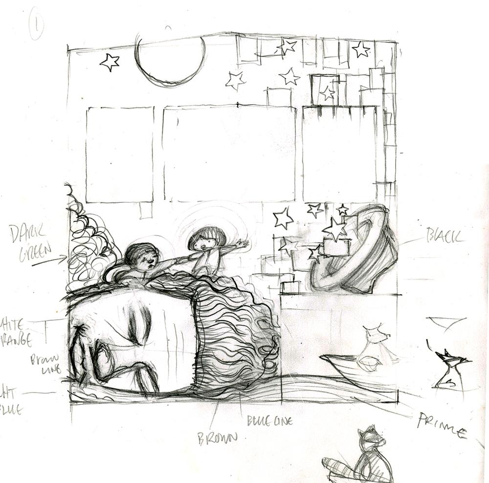 Concept sketches, W. Guthrie California Stars Mural  Howard Street, San Francisco, California
