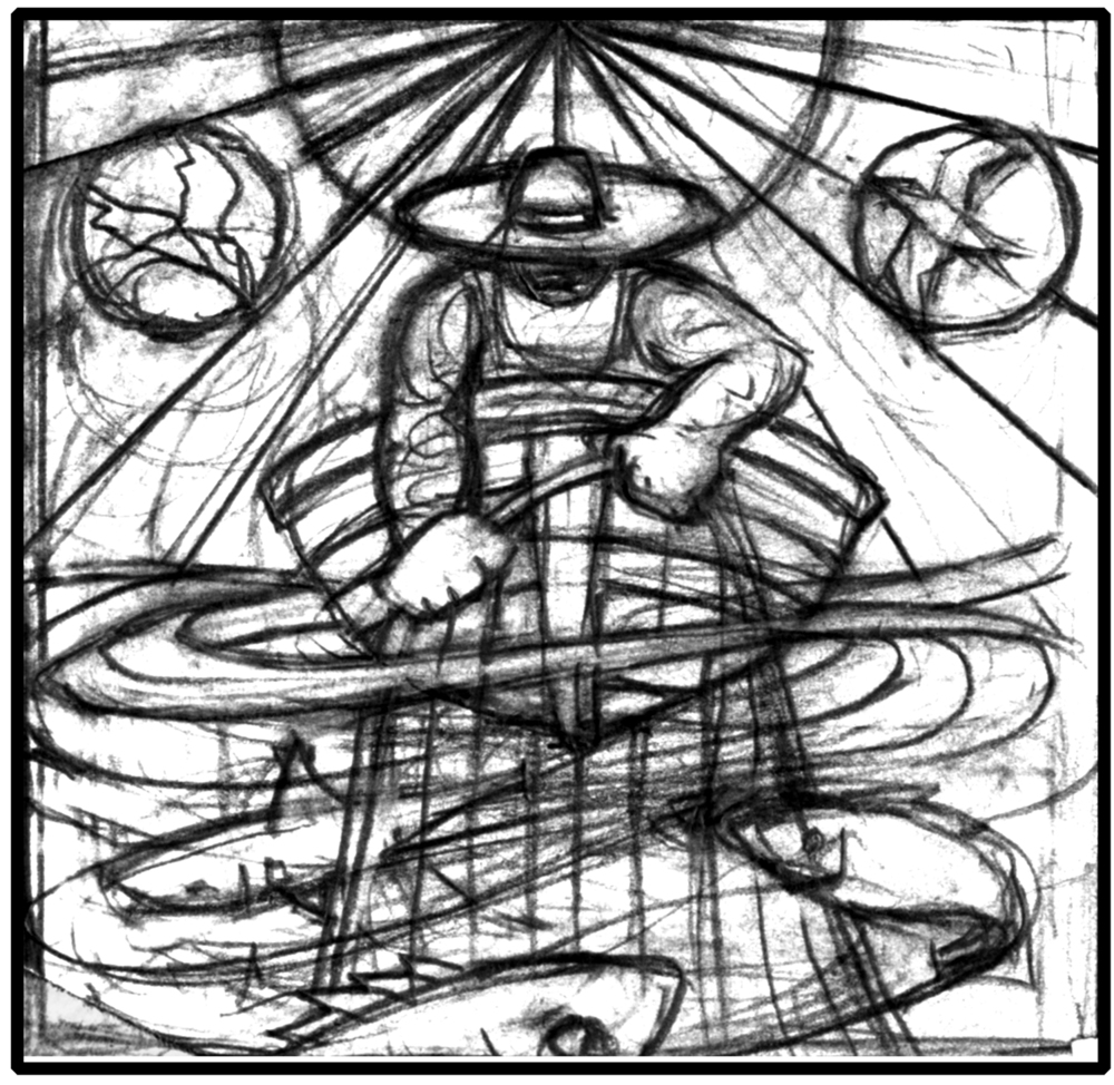 preliminary sketch for glass series