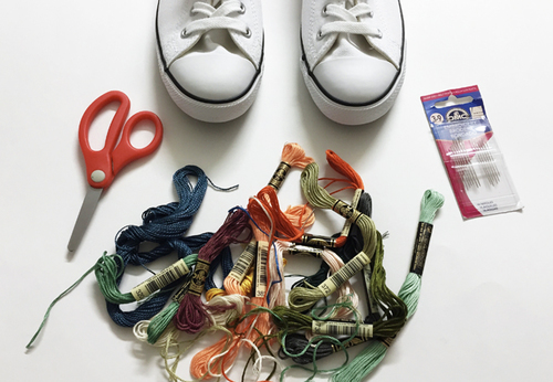 Materials: Converse Dainty; Embroidery Floss ...