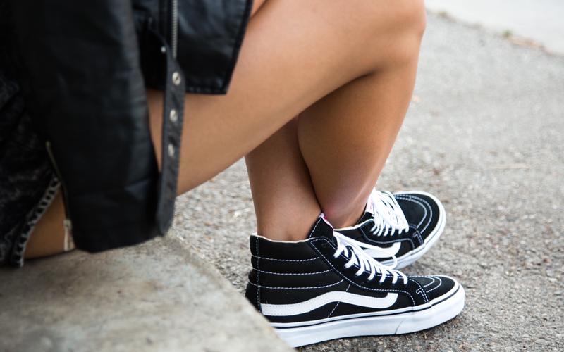 Shoes:  Vans Sk8-Hi Slim Black