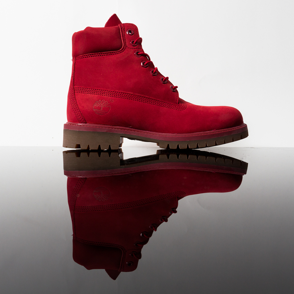 The upcoming Timberland Red Release Collection is red hot and hitting  Robert Wayne stores 9 4. Everything but the sole on the classic 6   Premium  is rich ... a2cbc7dec