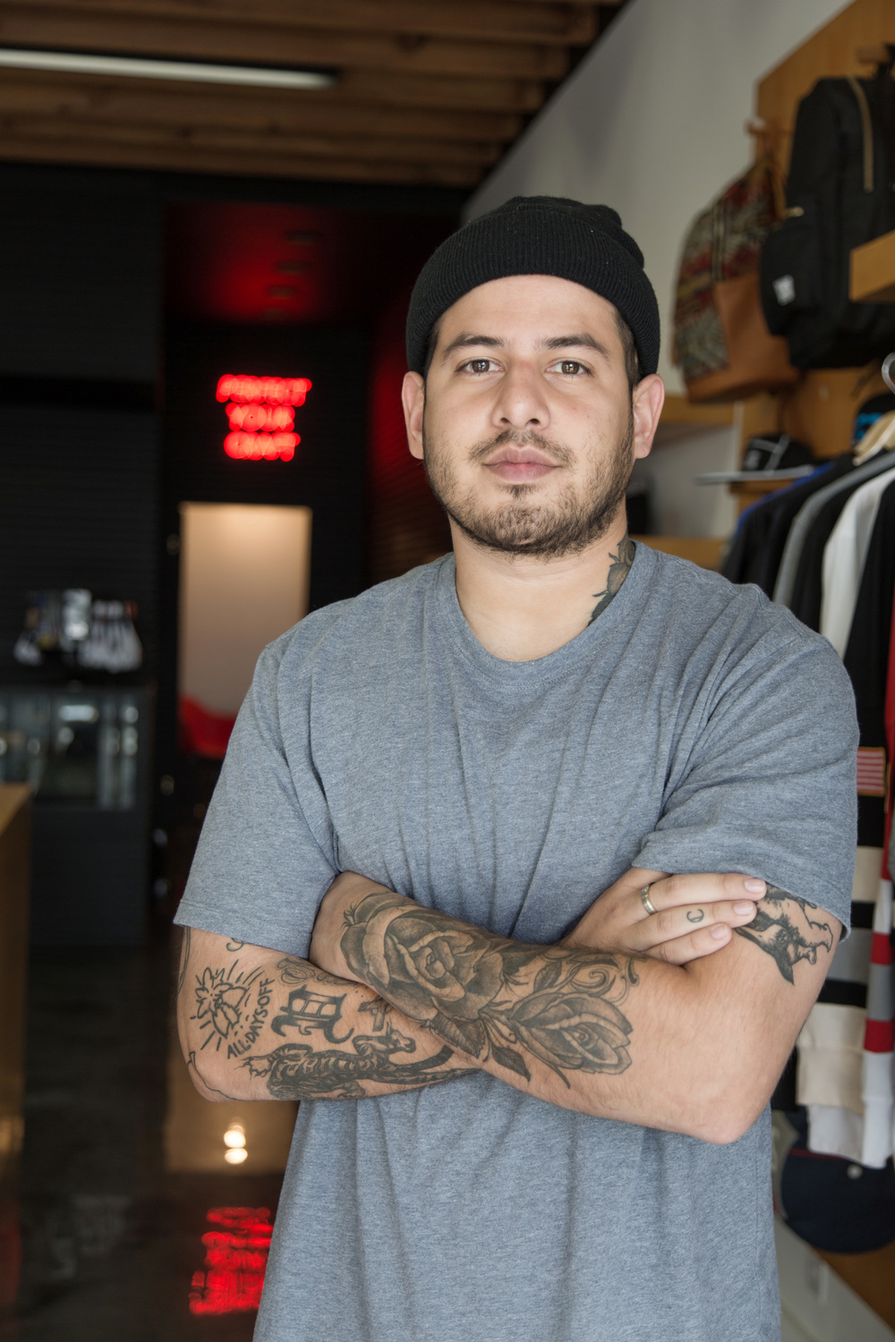 Josh Vides at the CLSC store in Los Angeles.