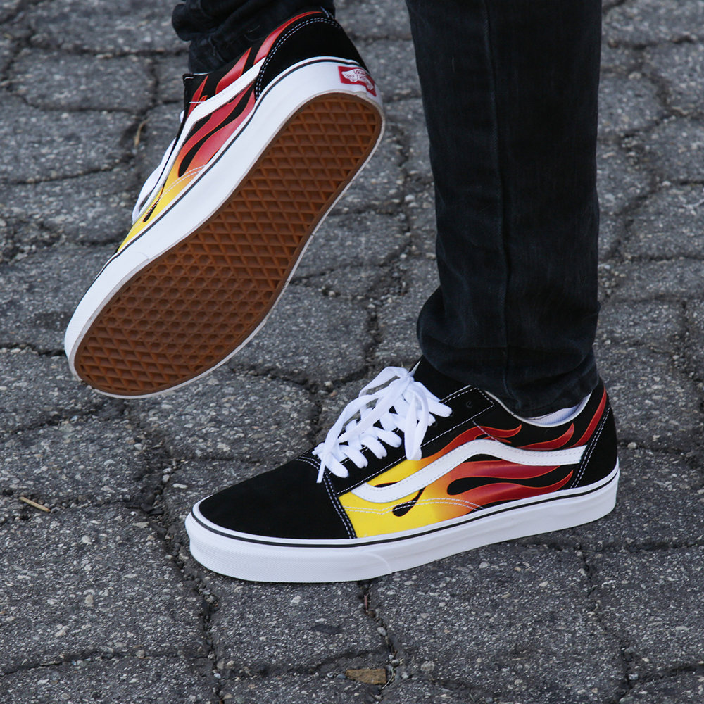 Check out the Vans Flame Old Skool for men and women!