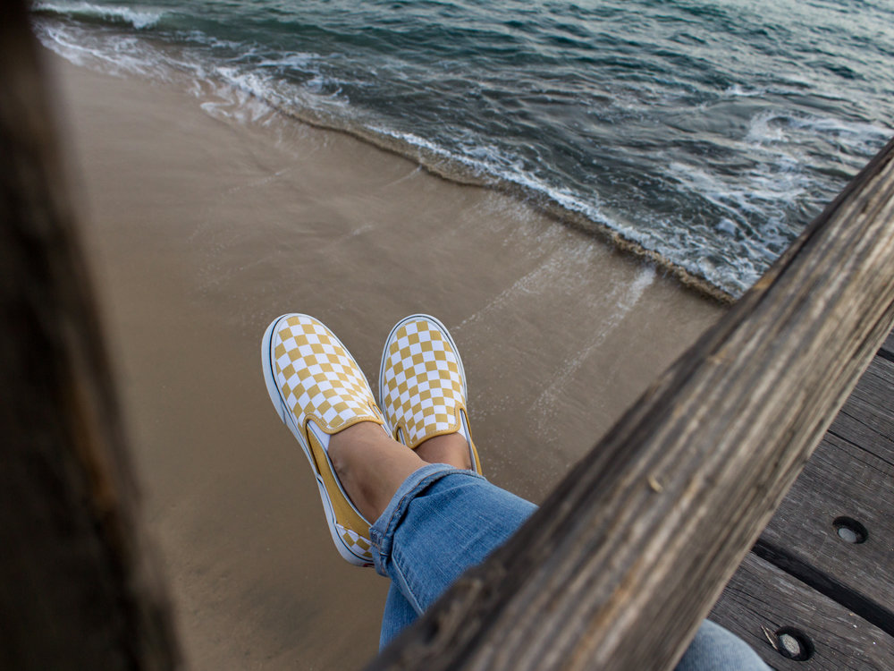 Vans Classic Checkerboard Slip On in Ochre