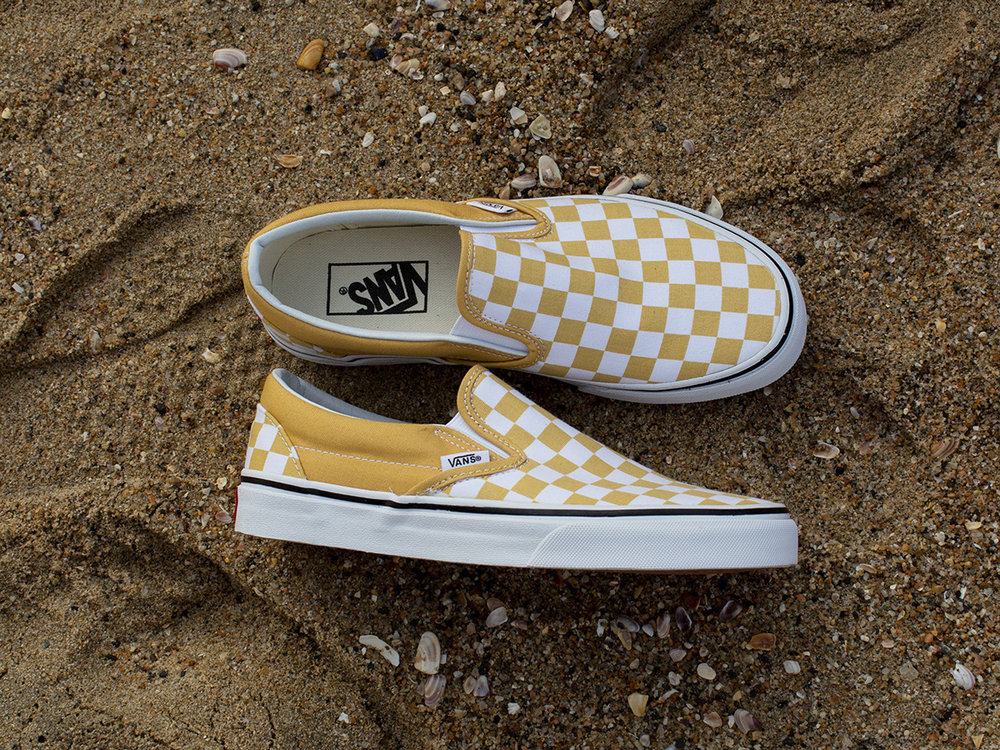 Vans Classic Checkerboard Slip On Ochre
