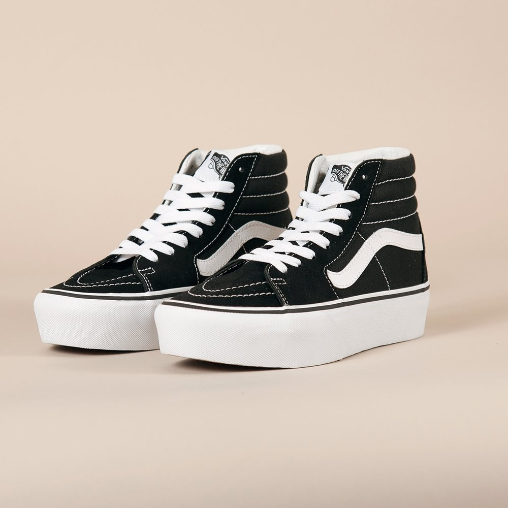 Vans Sk8 Hi Platform in Black White