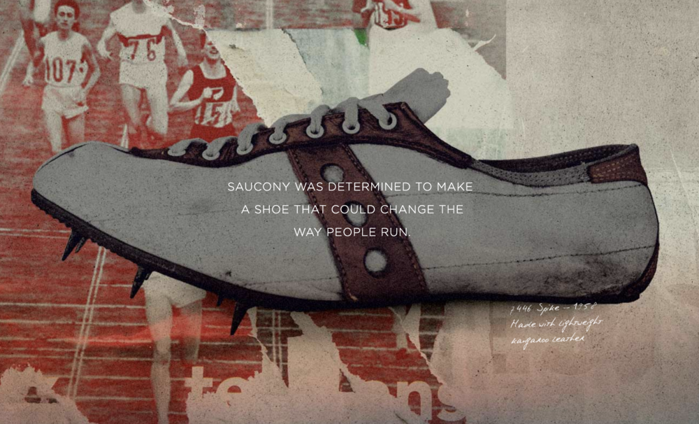 """""""Saucony was determined to make a shoe that could change the way people run."""" -  Saucony history"""