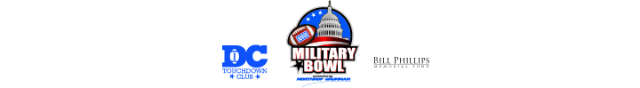 The DC Touchdown Club, Military Bowl presented by Northrop Grumman and Bill Phillips Memorial Fund are operated by DC Bowl Committee, Inc., a 501(c)3 nonprofit organization.