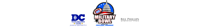 The DC Touchdown Club presented by Capital Bank N.A., Military Bowl presented by Northrop Grumman and Bill Phillips Memorial Fund are operated by DC Bowl Committee, Inc., a 501(c)3 nonprofit organization. Capital Bank N.A is an Equal Housing Lender and FDIC Insured.
