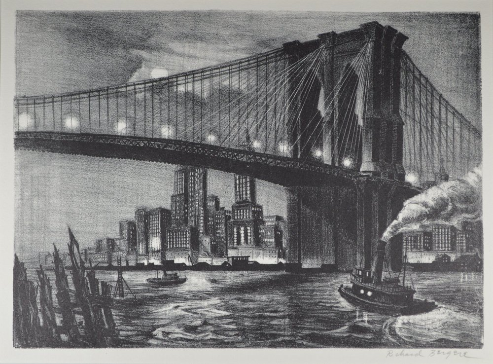 Bergere-Twilight Over Brooklyn Bridge.jpg